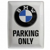 Large Metal BMW Parking Only Sign