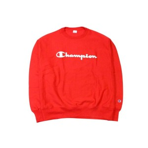 CHAMPION LIFE REVERSE WEAVE EMBROIDERED SCRIPT LOGO CREW SWEAT (TEAM RED SCRLET)チャンピオン/クルースウェット/赤