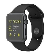 【中古】apple Apple Watch42mm All Black Sport【Aランク】