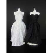 バービー 着せ替え用ドレス/服 BW1 (Set of 2 Beautiful Knee Length Dresses in Black and White Made to Fit the...