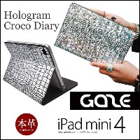 【送料無料】 iPad mini 4 本革 レザー ケース GAZE Hologram Croco Diary for iPad mini 4 アイパッドミニ4 カバー iPadmini4 iPad...