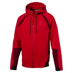 プーマ Ferrari Hooded Sweat Jacket メンズ Rosso Corsa