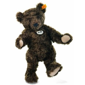 Steiff 000812 シュタイフ ぬいぐるみ テディベア 35cm Classic 1920 Jointed Teddy Bear with Growler (Dark Brown)