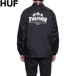 HUF X Thrasher TDS Coaches Jacket Black L コーチジャケット 並行輸入品