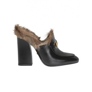 Gucci - 'Princetown' mules - women - レザー/ラビットファー - 38.5