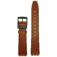 New Condor 16mm (19mm) Sized Genuine Leather Replacement Strap, Thin Type, Compatible for Swatch®...