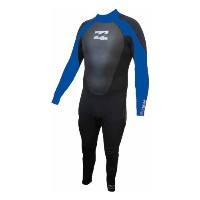 NEW【Billabong】【ビラボン】【ウェットスーツ】Billabong Intruder 5/4/3mm BACK ZIP GBS Wetsuit in BLACK/Blue M
