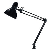 LEDU Opti Series Swing Arm Desk Lamp, 34-Inch Height, Black (L502BK) by Ledu
