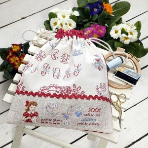 【DM便対応】Les Brodeuses Parisiennes リリー Lily 縫製済み クロスステッチ 半製品 キット フランス