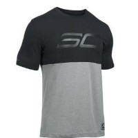 Under Armour SC30 Mono Logo T-Shirtメンズ Black/True Grey Heather Tシャツ アンダーアーマー Stephen Curry ステフィン・カリー