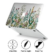 GMYLE [Quantum Light Case] [New Version] 13インチMacbook Air 向け超薄型傷つき防止カバー (Model: A1466 and A1369) - 庭の花