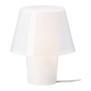 Ikea 202.158.63 Gavik Table Lamp, White with Frosted Glass by Ikea