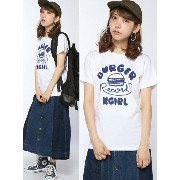 【SALE/30%OFF】X-girl X-girl×BURGER RECORDS S/S TEE エックスガール カットソー【RBA_S】【RBA_E】【送料無料】