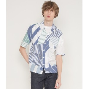 ALL-OVER PATCHED STRIPES SHIRT