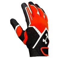 アンダーアーマー メンズ 野球 グローブ 手袋【Under Armour Clean Up VI Batting Gloves】Dark Orange/Black/White