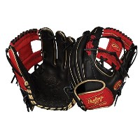ローリングス メンズ 野球 グローブ 手袋【Rawlings Heart of the Hide Fielding Glove】Black/Red/Metallic Gold