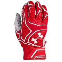 アンダーアーマー メンズ 野球 グローブ 手袋【Under Armour Yard Clutchfit Batting Gloves】Red/Red/White