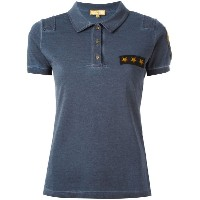 Fay Star patch polo shirt
