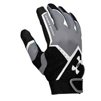 アンダーアーマー メンズ 野球 グローブ 手袋【Under Armour Clean Up VI Batting Gloves】Steel/Black/White
