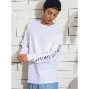 UNITED ARROWS green label relaxing [ザ デイ] SC THE DAY HOWZIT BRAH? カットソー / 袖プリント ユナイテッドアローズ...