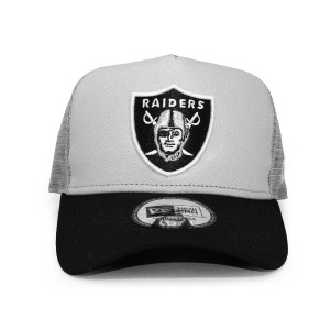 (ニューエラ) NEW ERA OAKLAND RAIDERS 【D-FRAME TRUCKER MESH/GREY-BLK】 オークランド レイダース