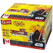Glad Lunch Variety Pack Disney Star Wars 14 Pieces by Glad