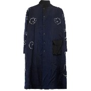 By Walid contrast floral embroidery coat