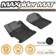 Honda Civic フロアマット 3D Maxpider 12-13 Honda Civic Coupe L4 Black Floor Mat Classic Carpet 2Pc 3D...