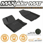 Hyundai Azera フロアマット Fits: Maxpider 12-15 Hyundai Azera 2Pc Black Kagu Rubber Floor Mat 1St Row R1...