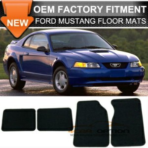 Ford Mustang フロアマット For 99-04 Ford Mustang 2Dr Floor Mats Carpet Front & Rear Nylon Black 4PC...