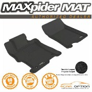 Honda Accord フロアマット 3D Maxpider 08-12 Honda Accord Coupe Sedan L4 2Pc Black Classic Floor Mat R1...