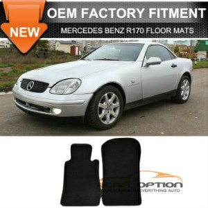 Mercedes-Benz SLK230 フロアマット Fit 98-04 Mercedes Benz R170 SLK Floor Mats Carpet Nylon Black 2PC...