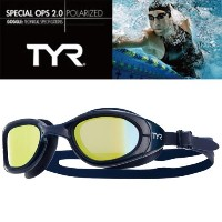 TYR ティア スイムゴーグル 偏光レンズ 【SPECIAL OPS2.0 LGSPL GOLD×NAVY】