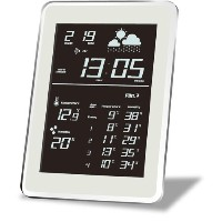 HOUSE USE PRODUCTS(ハウスユーズプロダクツ) LCD表示 電波置き掛け時計 AIR-CONDITION-CLOCK Dayton WHITE ACL080 [正規代理店品]