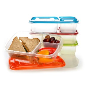 EasyLunchboxes 3-Compartment Bento Lunch Box Containers, Set of 4, Classic by EasyLunchboxes