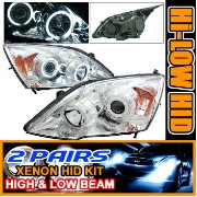 Honda CR-V ヘッドライト 2 Sets HID 07-09 CR-V CCFL Halo Projector Headlights 08 2セットは07-09 CR-V CCFLヘイロープロ...