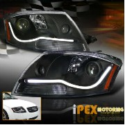 アウディ ヘッドライト NEW For 1999-2006 Audi TT Bright [GLOW STRIP] Projector LED Headlights Black NEW 1999...