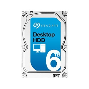 Seagate シーゲイト 内蔵 ハードディスク Desktop HDD 3.5 インチ 6TB ( SATA 6Gb/s / 7200rpm / 128MB ) 大容量 国内正規品 ...