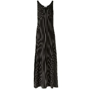 Amir Slama - striped long dress - women - コットン - P