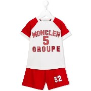 Moncler Kids ロゴプリント セットアップ
