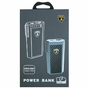 LAMBORGHINI iPhoneスマホ対応リチウムバッテリー6800mAh Genuine carbon fiber power bank -6800mAh LB-PB6800-AV/D3-BK