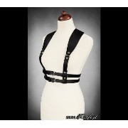 ゴシックハーネスUNDERBUST HARNESS-WIDE STRAPS BELT BLACK