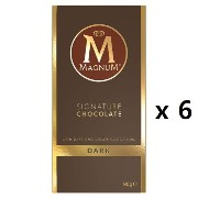 Magnum Chocolate Block Dark 90g 6EA [海外直送] [並行輸入品]