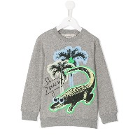Stella Mccartney Kids croco beach print Billy sweatshirt