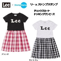 【40%offSale!!】【Leeキッズ】Lee x StompStamp ☆涼しいチェックスカートドッキングワンピース9187620【Leeキッズ】■【定価 5,292円→Sale!!】
