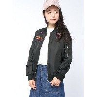【SALE/10%OFF】AS KNOW AS PINKY ALOロゴ☆MA-1 アズノゥアズ コート/ジャケット【RBA_S】【RBA_E】【送料無料】