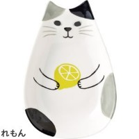 "Decole「Happy catday "" Mini Dish ""フルーツの猫」 イエロー ZHD-87748"