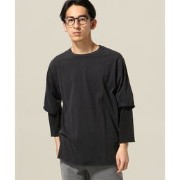 REMI RELIEF / レミ レリーフ: 30/- 度詰め天竺 グランジ7分袖カットソー【ジャーナルスタンダード/JOURNAL STANDARD Tシャツ・カットソー】