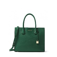 MICHAEL KORS MERCER LARGE BONDED-LEATHER TOTE MOSS [並行輸入品]