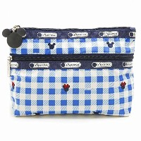LeSportsac 7105-P930 COSMETIC CLUTCH ディズニー クラッチ ポーチ CHECKS AND BOWS/ [並行輸入品]